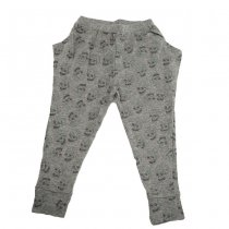 Love skull harem pants, grey