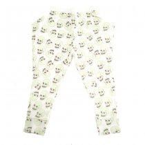 Love skull harem pants, white